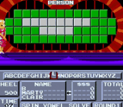 Cheats for Wheel of Fortune NES