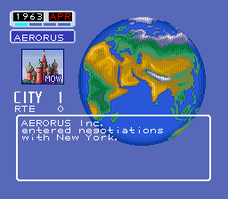 Cheats for Aerobiz SNES