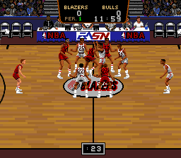 Play Bulls Vs Blazers and the NBA Playoffs (SNES) Online
