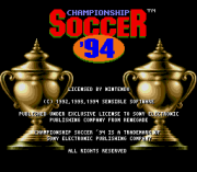 Play Championship Soccer '94 (SNES) Online