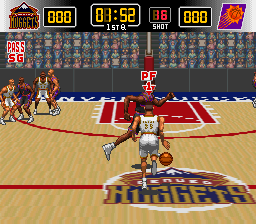 Play NBA Give 'N Go (SNES) Online