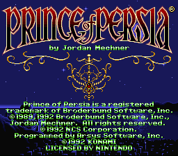 Play Prince of Persia – Miracles Don't Exist (SNES) Online